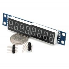 Индикаторный модуль 8 цифр на MAX7219  для Arduino