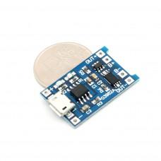 Зарядный модуль Micro USB для акб 18650  + защита
