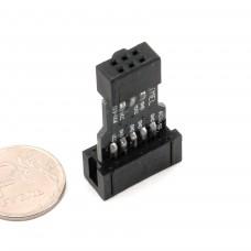 10Pin к 6Pin  адаптер для AVRISP MKII USBASP STK500