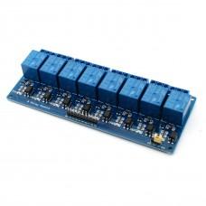 8х канальный модуль реле  250 В ; 10 А (Питание 5 В)